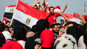 Celebrations and further small demonstrations have taken place in towns and cities across Egypt.