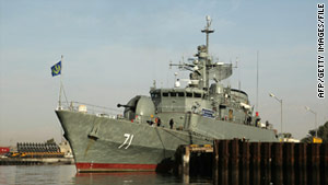 The frigate Alvand, pictured in 2009, is one of the two ships Iran wants to send through the Suez Canal.