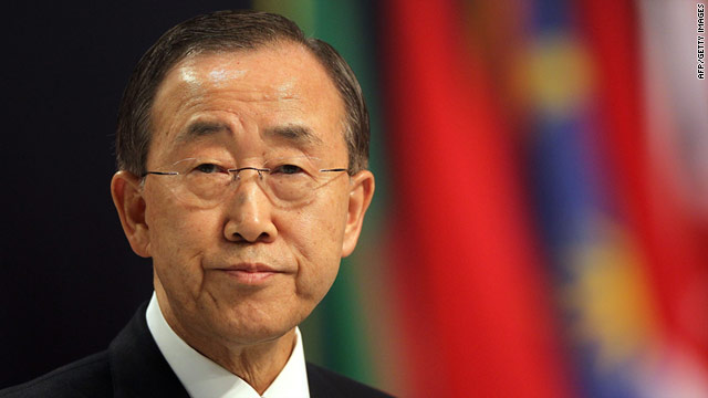 U.N. Secretary-General Ban Ki-Moon is deeply concerned by escalating violence in northern Africa and the Middle East.