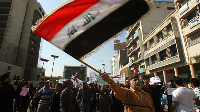 Friday's protests will be much larger than on February 18, when dozens of men gathered to protest corruption in Baghdad.