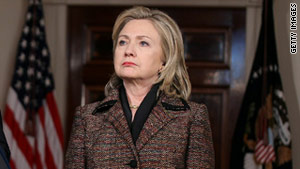 "Secretary of State Hillary Clinton said the United States is ""deeply concerned by the persecution of Iranian citizens."""