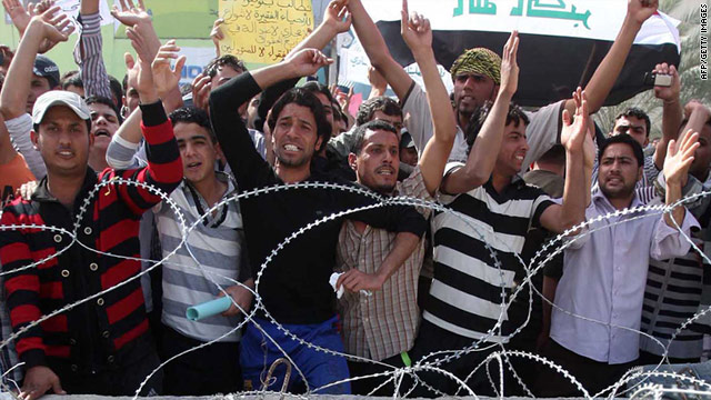 At least 10 people were killed, and dozens injured in a series of protests across Iraq on Friday.