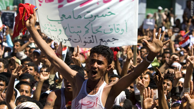 Protests Continue in Bahrain and Yemen (Photo Courtesy of CNN)