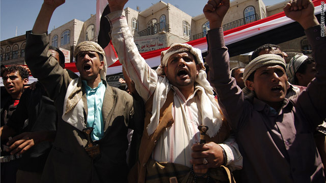 Protesters in Yemen are calling for President Ali Abdullah Saleh -- who has been in power since 1978 -- to resign.