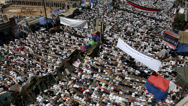 Hundreds of Yemeni men pray prior to demonstrations against President Ali Abdullah Saleh on Friday in the capital Sanaa.