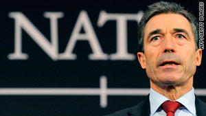 "NATO Secretary General Anders Fogh Rasmussen: ""We are there to protect civilians ... and that will be our focus."""