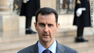 Syrian President Bashar al-Assad has been under pressure in recent weeks as anti-government protests have spread.