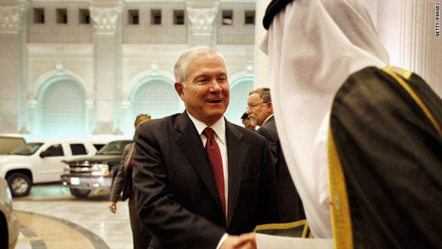 U.S. Defense Secretary Robert Gates recently made a trip to Saudi Arabia to meet with King Abdullah.