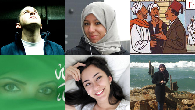 Top L-R: Mark Makkhoul , Afrah Nasser, Arabist; Bottom L-R: Saudiwoman, Maya Zankoul and Lina Al-Sharif