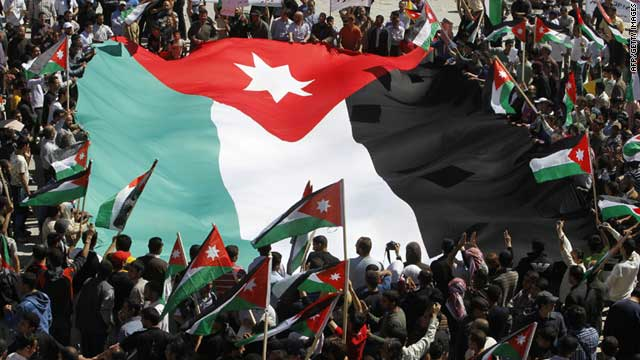 Protesters took the streets of Amman, Jordan, on Friday, calling for governmental and constitutional reforms.