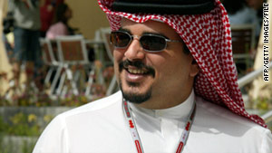 Bahrain's Prince Salman bin Hamad Al-Khalifa, seen in a 2004 photo, doesn't plan to attend the royal wedding in London.