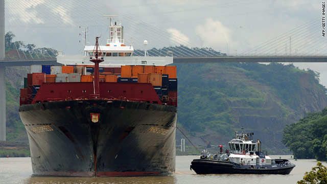 The proposed Istanbul Canal will outshine its rivals in Panama (pictured) and Suez, Egypt, according to Turkey's Prime Minister.