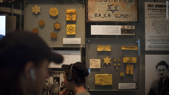 Tourists visit the Yad Vashem holocaust memorial museum on the eve of Israel's Holocaust Memorial Day.