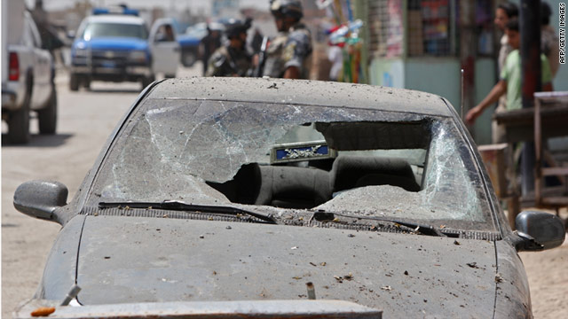 A sticky bomb attached to a car in the al-Dora district of Baghdad killed a municipal worker.