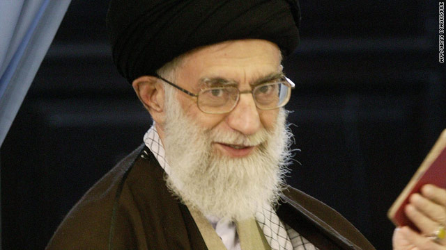 "Israeli Prime Minister Benjamin Netanyahu says Iran's Ali Khamenei (pictured in 2008) ""is infused with fanaticism."""