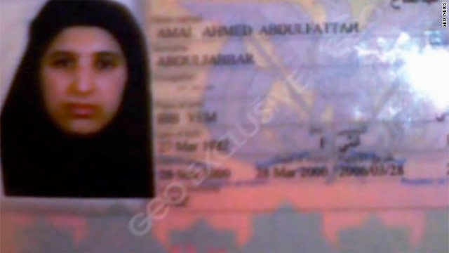 Amal al-Sadah's passport, which a relative said was obtained for the purpose of marrying bin Laden in Afghanistan in 2000.
