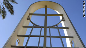 More than 70 people were killed at the siege at Our Lady of Salvation Church, Baghdad, above, in  October 2010.