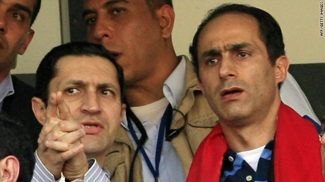 Gamal (right) and Alaa Mubarak, pictured here in 2010, will be held for another 15 days.