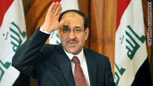 Iraqi Prime Minister Nuri al-Maliki says the White House would need to know Iraq's decision by August.