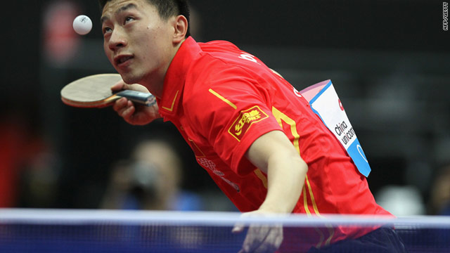 Ping-pong diplomacy: Ma Long of China serves during the World Table Tennis Championships in May 2011 in the Netherlands.