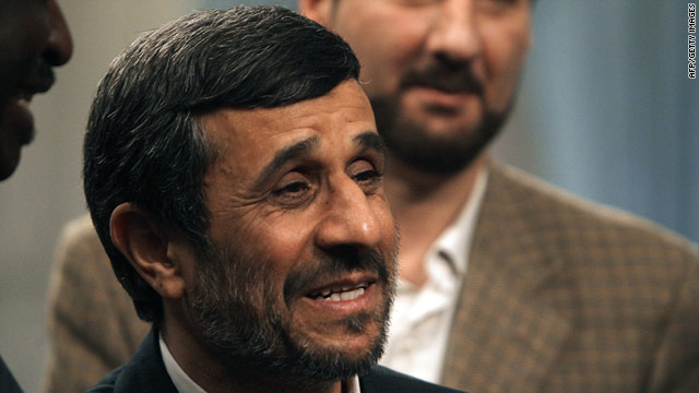 Mahmoud Ahmadinejad (pictured on March 8) said he would act as 'caretaker' for the oil ministry.