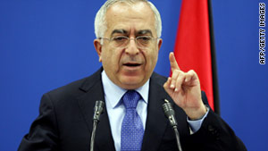 Palestinian Prime Minister Salam Fayyad felt chest pains Sunday while visiting Austin, Texas, for his son's graduation.