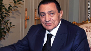 Former Egyptian President Hosni Mubarak was ousted from power in February.