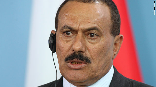 Yemeni President Ali Abdullah Saleh (pictured in 2008) was injured Friday from an attack at his presidential compound.  