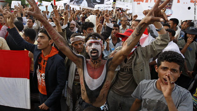 Protests against the return of President Ali Abdullah Saleh have been held in Sanaa in recent days.