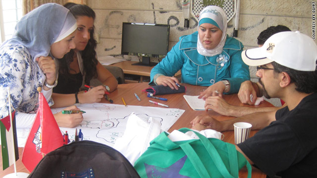 Youth people taking part in a Education for Employment program in Egypt