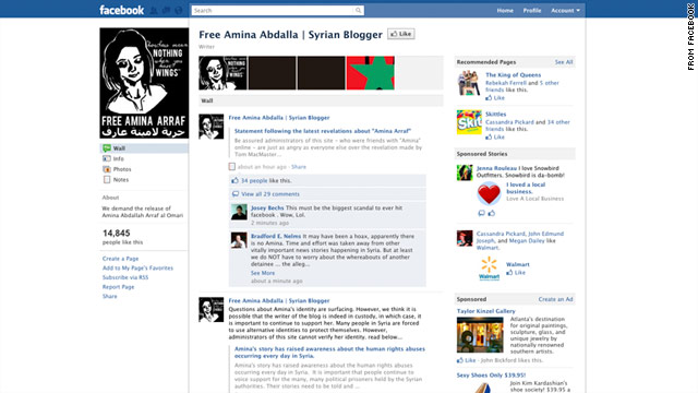 A Facebook page was created to raise awareness and support for the supposedly missing blogger.