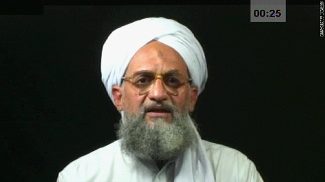 A frame grab from a videotape aired 05 August 2006 on the Al-Jazeera television network shows Ayman al-Zawahiri.