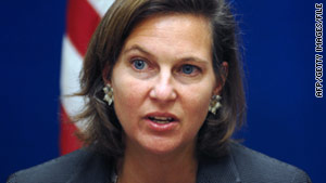 "Victoria Nuland, the State Department's spokeswoman, says Syrian President Bashar al-Assad is pouring ""gasoline on the fire for change."""
