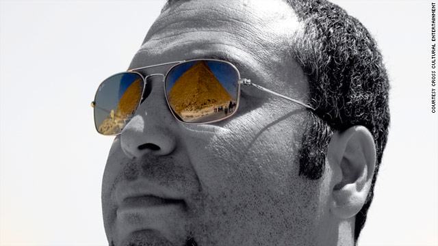 Comedian Ahmed Ahmed visits the Pyramids in his native Egypt.