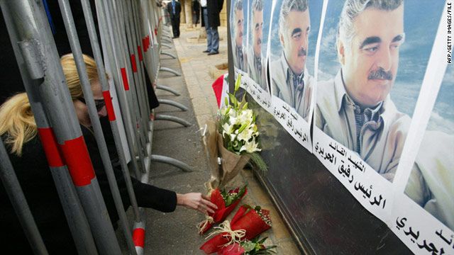 Former Lebanese Prime Minister Rafik Hariri was killed in a February 2005 Beirut bombing.