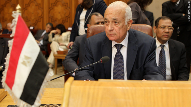 Nabil Al-Araby pictured at a meeting on May 15 in Cairo, Egypt, during which he was elected head of the Arab League.