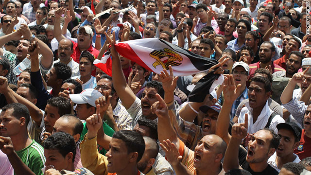 Egyptians protest Friday in Tahrir Square as demonstrations continue months after the ouster of President Hosni Mubarak.