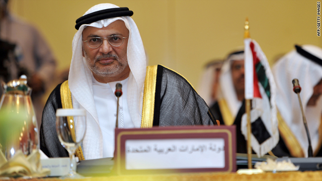 U.A.E. Minister of State for FNC Affairs, Anwar Mohammed Gargash, is pictured in Jeddah, Saudi Arabia, on September 06, 2010.