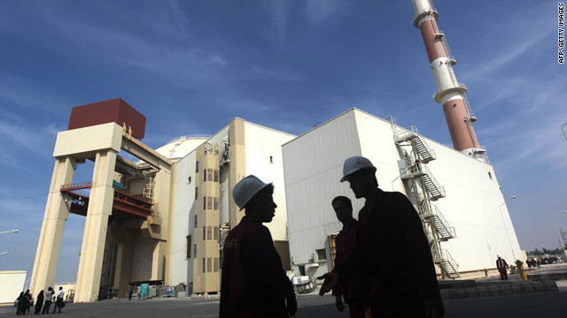 The reactor building at the Russian-built Bushehr nuclear power plant in southern Iran on October 26.