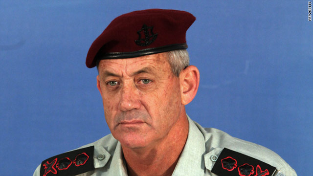 Benny Gantz, pictured in February, chief of staff of the Israel Defense Forces, confirmed that naval forces seized the vessel.