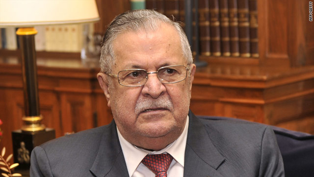 The deadline imposed by President Jalal Talabani, pictured here in March, passed over the weekend.