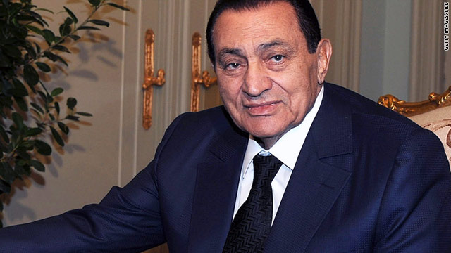 Former Egyptian President Hosni Mubarak awaits trial on charges of ordering police to kill anti-government protesters