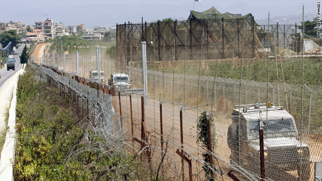 Israeli soldiers patrol the along the border between Israel and Lebanon on June 3, 2011.