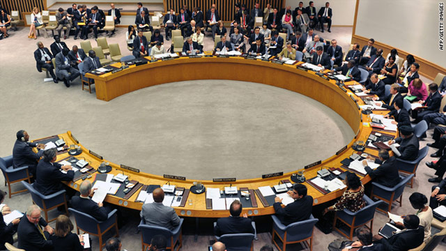 The U.N. Security Council issued a statement condemning the Syrian government's crackdown on protesters.