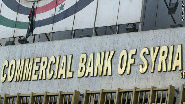 Sanctions have been been placed on Syrian companies including the Commercial Bank of Syria.