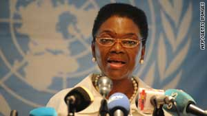 U.N.'s Valerie Amos said there is continued concern about the humanitarian situation in Syria (file photo).