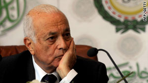 Nabil Al Araby, pictured above in Egypt in July, has met with Syrian President Bashar al-Assad, reports say.