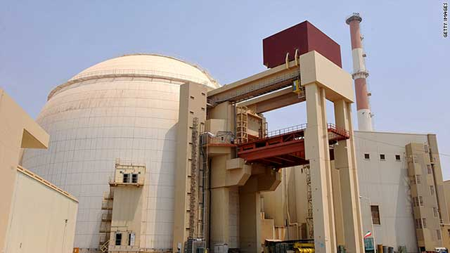 Iran's Bushehr plant is expected to produce 1,000 megawatts of electricity when fully operational.