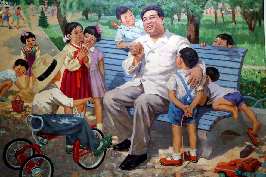 Image result for north korean art kim il sung