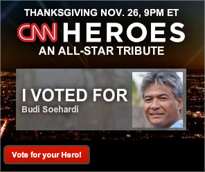 Let's support our INDONESIAN HERO for CNN HEROES